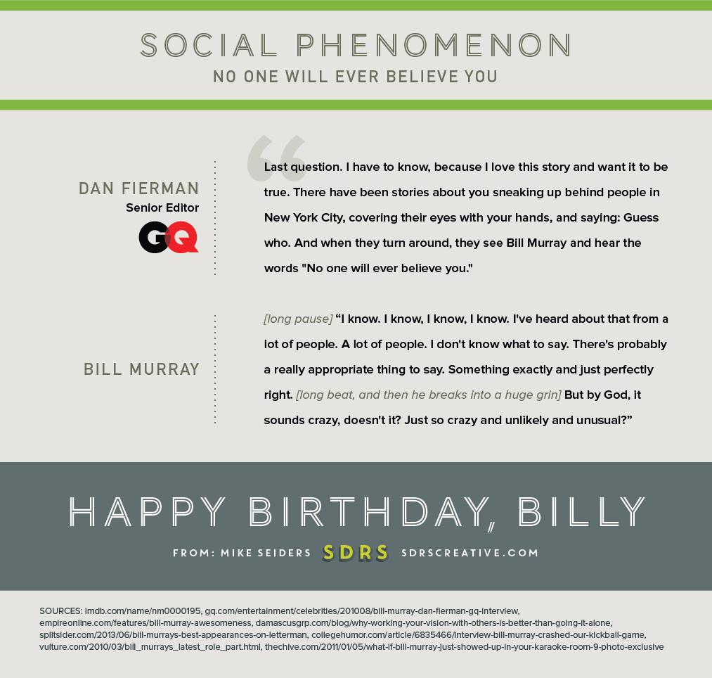 Bill Murray Infographic